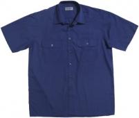 Camisa manga corta trabajo azulina