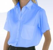 Blusa manga corta uniforme celeste