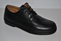Zapato cuero caballero negro