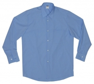 Camisa manga larga vestir celeste