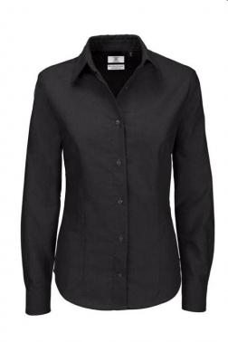 Blusa laboral tejido oxford negro
