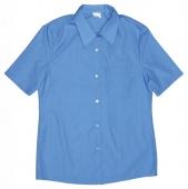 Blusa uniforme manga corta celeste