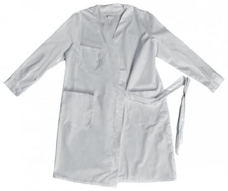 Bata tipo kimono blanco
