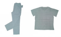 Pijama sanitario de botones blanco