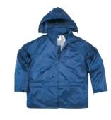 chaqueta traje de lluvia marino