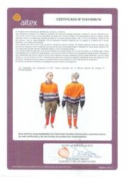 Certificado alta visibilidad EN20471:2013