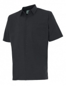 Camisa negra un bolsillo manga corta