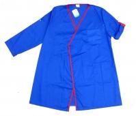 Bata tipo kimono coordinado en azulina y rojo