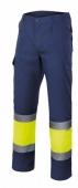 Pantalon alta visibilidad 157 coordinado marino-amarillo