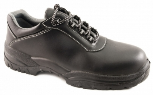 Zapato metal free cuero negro 6400s3