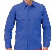 Camisa manga larga laboral azulina