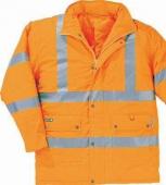 Parka alta visibilidad naranja fluor