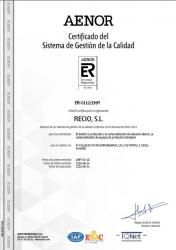 Certificado ISO9001 RECIO SL