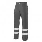 pantalon laboral con reflectante gris