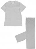 Pijama cuello pico blanco 1P102