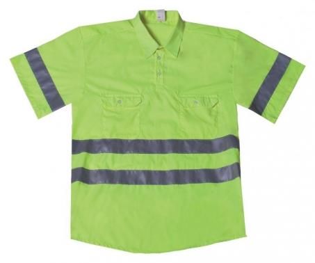 Camisa polo AV amarillo fluor