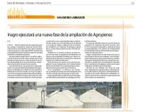 INAGRO EJECUTARÁ UNA NUEVA FASE DE AMPLIACIÓN DE AGROPIENSO
