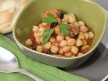 Garbanzos con mejillones y salsa de tomate La Tejea.
