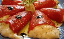 Pimientos del piquillo rellenos de salmón