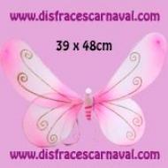 Alas Mariposa Rosas 39x48