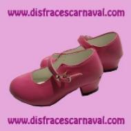 Zapato Fuxia Tacon Hebilla