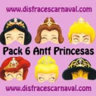 Antifaces 6 princesas