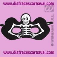 Antifaz Esqueleto tela