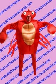 disfraz de cangrejo Sebastian