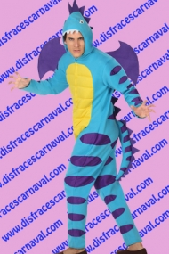 Dinosaurio adulto azul morado