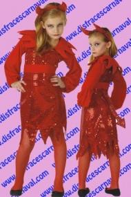 Diablesa Vestido Lentejuelas