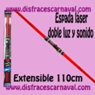 Espada Laser Doble Roja