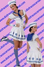 Marinera Blanca Ribete azul