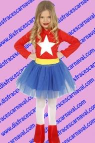 disfraz capitana america niña
