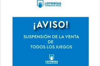 SUSPENSIÓN DEL SORTEO DE LA CAMPAÑA DE INVIERNO POR COVID-19