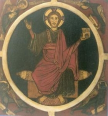 Romanesque icon, hand painted