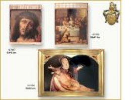 Triptych,chapels and treated print panel