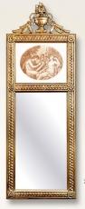 Espejo diptico moldura artesanal, Alegoría