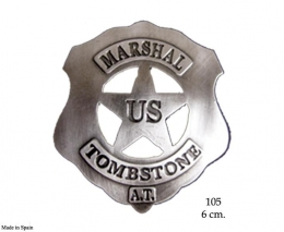 Placa U.S. Marshal Tombstone