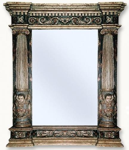 Espejo pilastras ángeles Valladolid