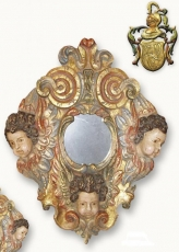 Mirror frame with wooden carved