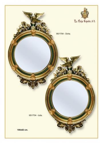 Espejo águila dcha,izq, verde y oro
