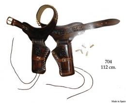 Canana de piel para 2 Revolveres