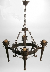 Wrought iron, ceiling lamp
