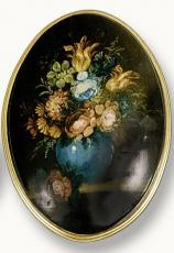 Cuadro huevo flores