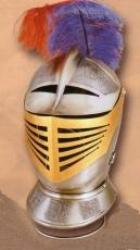 Casco guerrero S XVI grabado