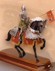 armadura a caballo caballero español