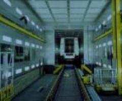 Cabina para el secado de coches/locomotoras