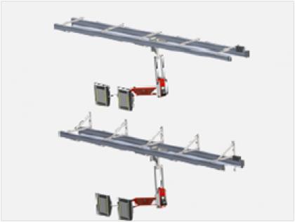 Sistema de rieles configuración de pared