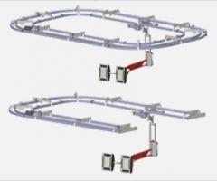 Sistema de rieles con configuración en O y U