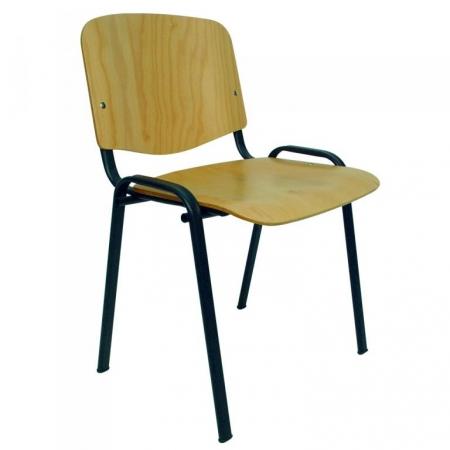 Silla fija sin  brazos en madera de haya mod. Esfera-1080